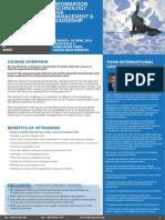 IT Risk Management & Leadership 30 March - 02 April 2014 Dubai UAE