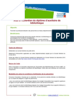 Culture AideObtentionDiplomeAuxiliaireBibliotheque