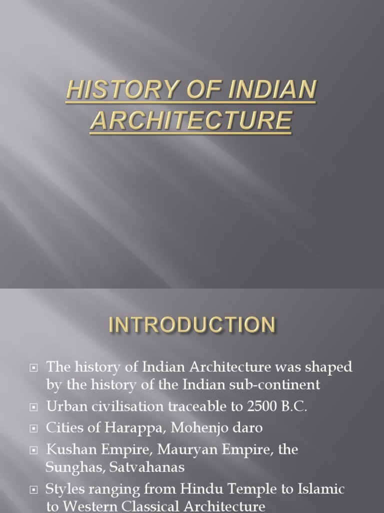 History of Indian Architecture | Art Media | Architectural
