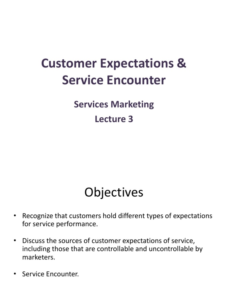 types of service encounter