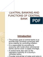 CENTRAL BANKING AND FUNCTIONS OF CENTRAL BANK