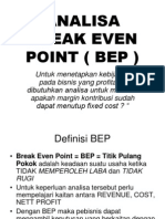 Analisa Break Even Point Bep