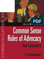 Common Sense Rules of Advocacy for Lawyers, Preview