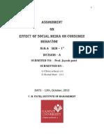 Effect of social media on consumer behavior