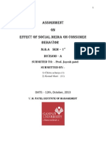 Effect of social media on consumer behavior