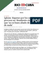 Boletín de Diario de Cuba | Del 21 al 27 de noviembre de 2013