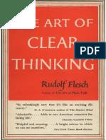 Flesch the Art of Clear Thinking