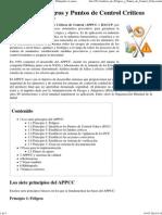 Análisis de Peligros y Puntos de Control Críticos - Wikipedia, la enciclopedia libre.pdf