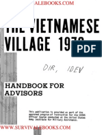 1970 US Army Vietnam War Vietnamese Village Handbook for Advisors 97p