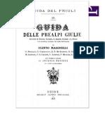 Guida delle Prealpi Giulie - Distretti di Gemona, Tarcento, S.Daniele, Cividale e S.Pietro (1912)