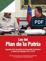 Ley Del Plan de La Patria 2013 - 2019