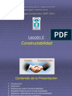 Lección 2 - Constructabilidad.