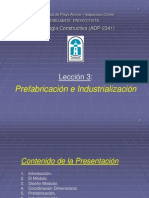 Lección 3 - Prefabricación e Industrialización.