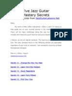 Five Jazz Guitar Mastery Secrets