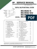 SHARP MX-M283,363,453,503