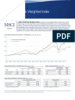 MSCI ACWI Risk Weighted Index Factsheet