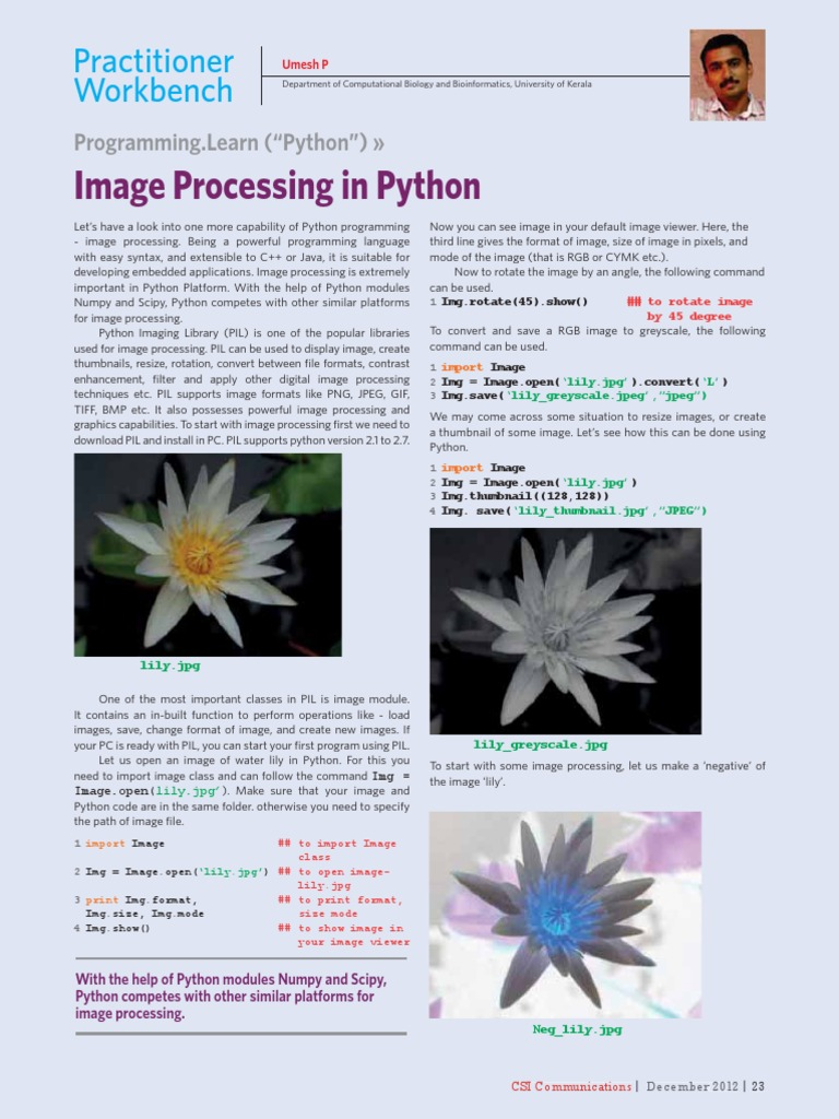 Image Processing Using Python How To | Python (Programming