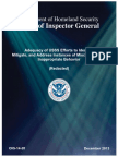 Department of Homeland Security Inspector General Report