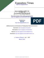 1987 - Dale C. Allison - Jesus and Moses (Mt 5.1-2)