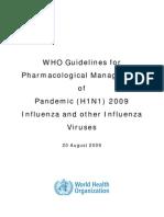 h1n1 Guidelines Pharmaceutical Mngt