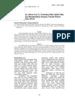 Pengaruh Laju Aliran Gas N2 Terhadap Sifat Optik Film Tipis GaN Yg Ditumbuhkan Dengan Teknik Pulsed Laser Deposition (PLD)