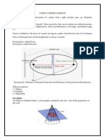 Conic Section Engineering Drawing