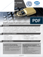 ISO 31000 Risk Manager Two Page Brochure