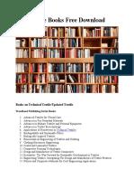 Free Download Latest Textile Books