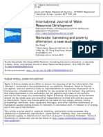 Rainwater harvesting and poverty alleviation