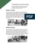 HISTÓRIA DO TRANSPORTE COLETIVO DE CURITIBA