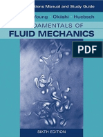 Fundamentals of Fluid Mechanics (Solutions Manual)