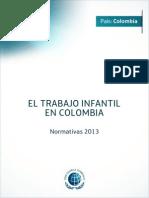 Normativa Colombia,Trabajo Infantil