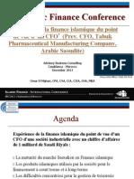 Expérience de la Finance Islamique du point de vue d un CFO - par Omar El Mghari - iCompetences IFConference