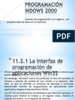 11.2 PROGRAMACIÓN EN WINDOWS 2000