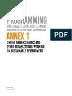 Annex 1 on Sustainable Local Development