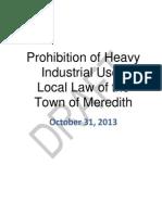 Heavy Industry Prohibition 2013 DRAFT 10-31-2013