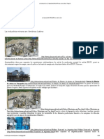 La industria minera en América Latina maquinas