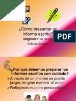 Como Presentar Un Informe Escrito(YV)