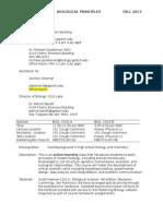 Biol1510F13Syllabus Schedule