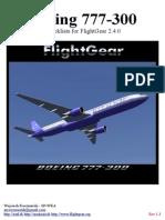 777 300 Flightgear Checklists