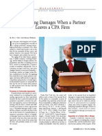 Measuring Damages When a Partner Leaves a CPA Firm