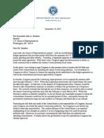 U.S. Treasury's Debt Limit Letter to Congress (12-19-2013)