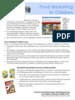 Food Marketing to Children