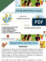 Diapositivas de Presupuesto de Efectivo o Caja