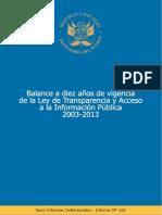 10 añós Ley Transparencia y acceso Información Pública