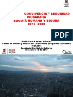 Presentación Plan Integral de Convivencia y Seguridad Ciudadana, PICSC 2013 - Bogotá