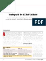 Trading Using the VIX Put-Call Ratio