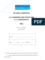 Bonding, Structure and Periodicity Test