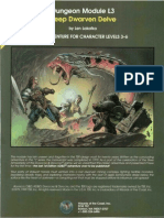 AD&D 1.0 L3 Level 3-6 Adventure - Deep Dwarven Delve (No Map)