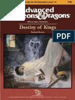 AD&D 1.0 N3 Level 1-4 Adventure - Destiny of Kings